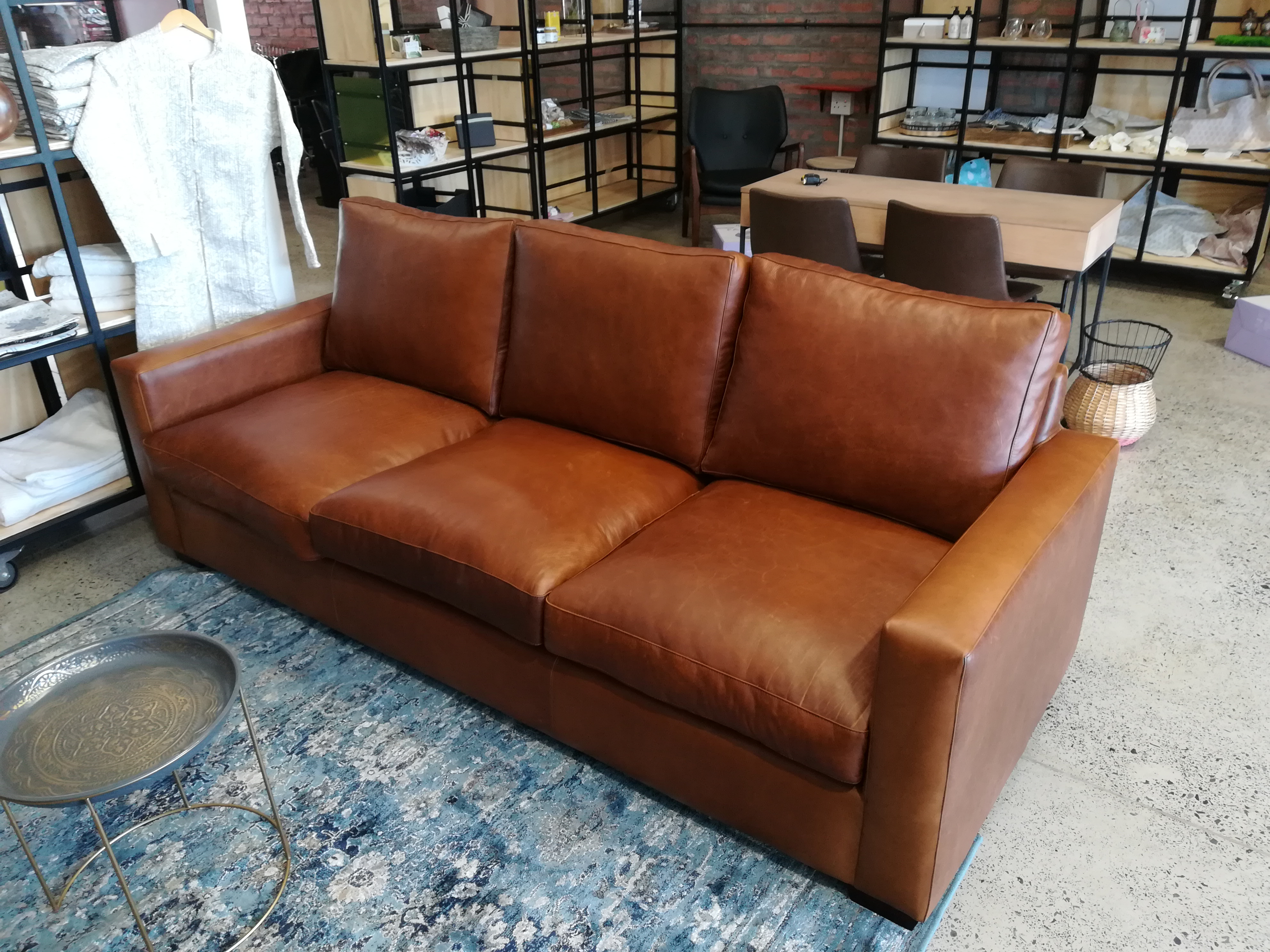 Genuine Leather 20.20m 20 seater Peacan Couch   Leather Couch ...